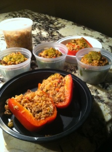 leftover stuffed peppers