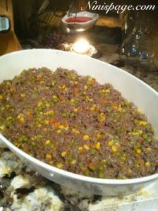 Shepherds pie dish
